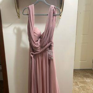 BIRDY GREY BRIDESMAID DRESS - 2XL (runs small)